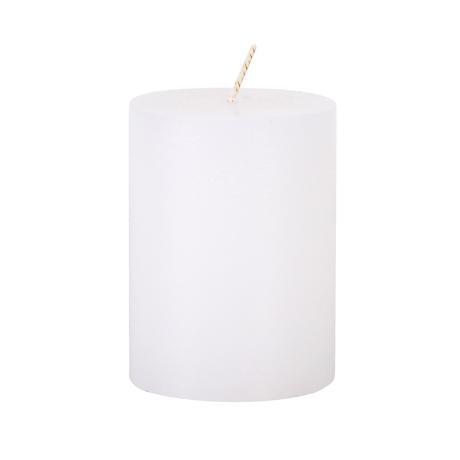 Svíčka rustikální 7,5 x 10 cm, bílá
