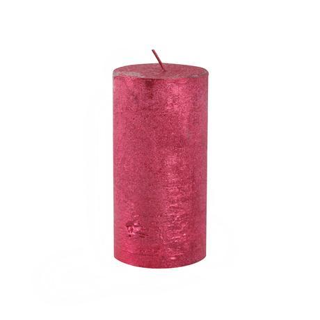 Rustikální svíčka 12cm PROVENCE červená