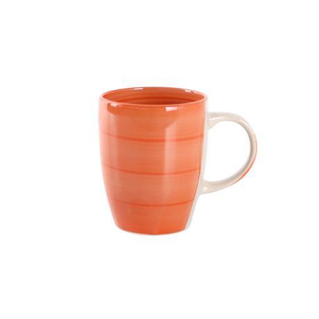 Hrnek s proužky keramika, objem 240 ml, oranž...