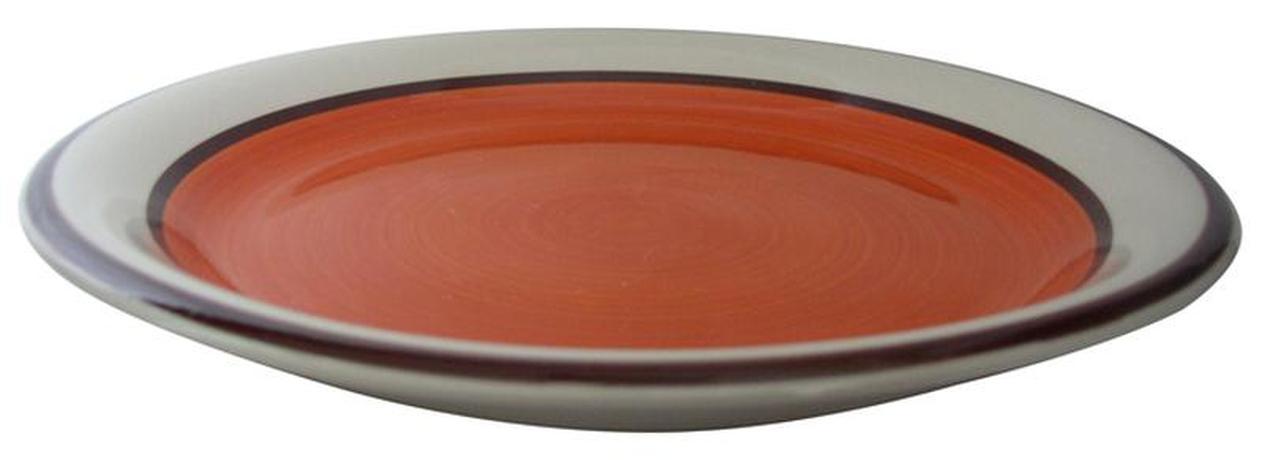 TORO talíř dezertní s pruhem 19 x 2,8 cm