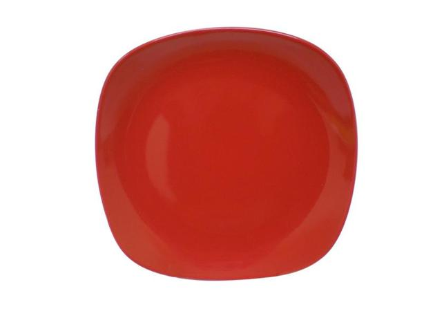 Talíř dezertní,  čtverec,  19, 5 cm, červený