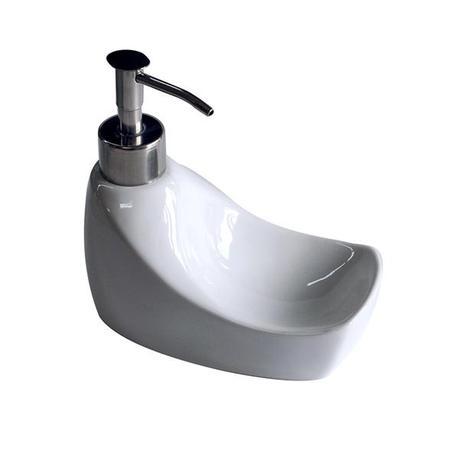 Dávkovač mýdla, keramika, bílý