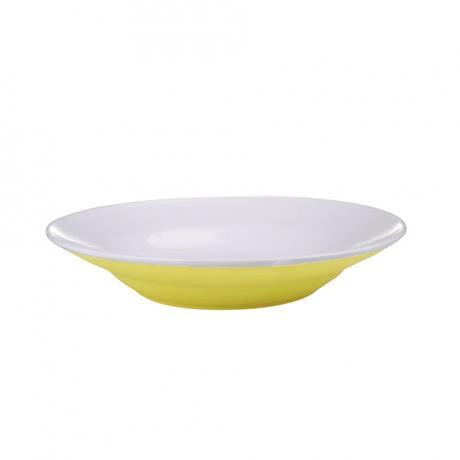Talíř polévkový, porcelán, žlutý mat, 20,5 cm
