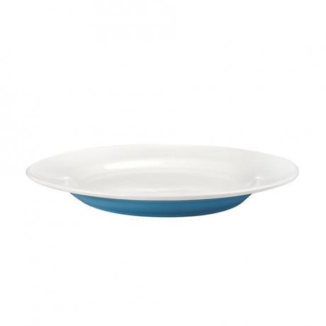 Talíř jídelní, porcelán, modrý mat, 27,5 cm