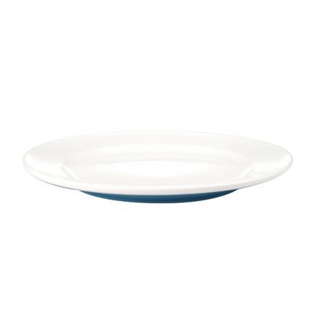 Talíř dezertní, porcelán, modrý mat, 19,8 cm