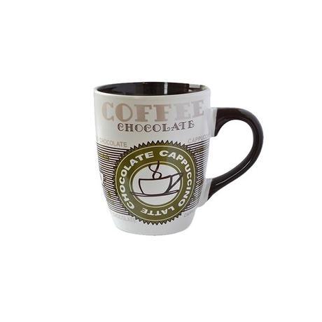 Keramický hrnek TORO 350ml káva zelená/modrá