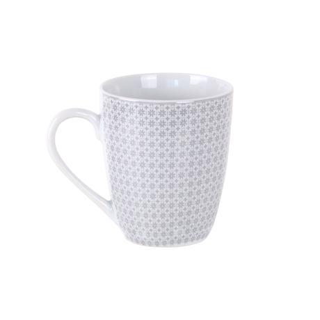 Toro Hrnek porcelán bílo-šedý 350 ml