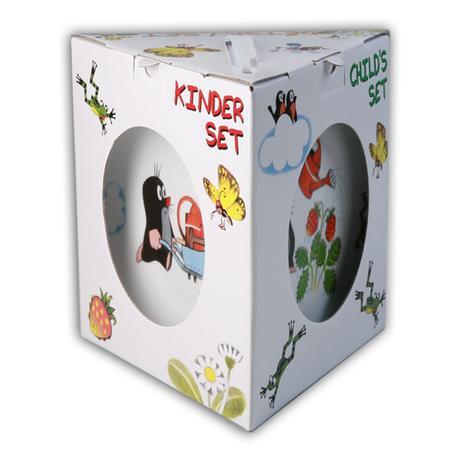 Dětská porcelánová jídelní sada THUN 3ks Krte...