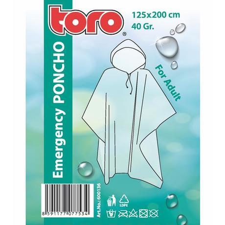 TORO PONCHO PLÁŠTĚNKA PRO DOSPĚLÉ VEL.125 X 200CM