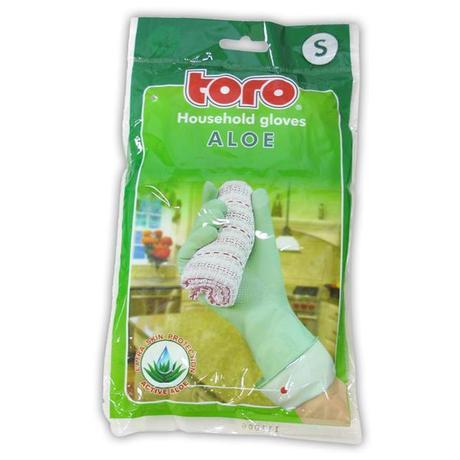 TORO gumové rukavice aloe, velikost S