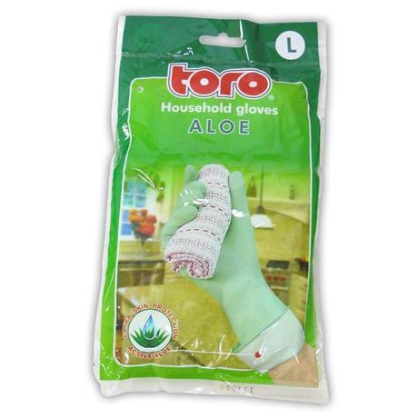 TORO gumové rukavice aloe, velikost L