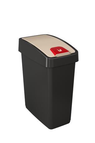 Plastový odpadkový koš KEEEPER Mange 25l čern...