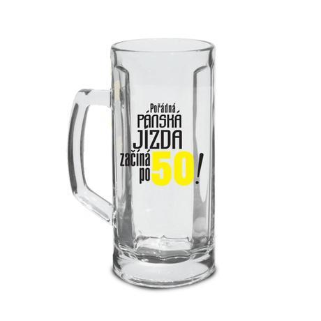 SKLENICE NA PIVO - JÍZDA ZAČÍNÁ PO 50!, 500 ML