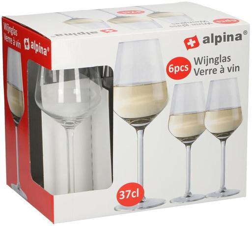 Sklenice na bílé víno Alpina, objem 370 ml, 6...
