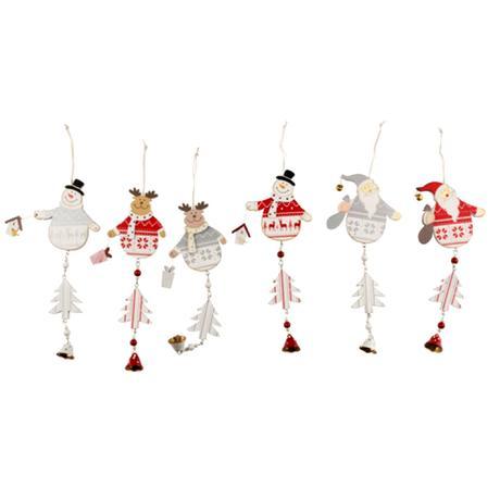 Dřevěná vánoční ozdoba se zvonečkem 15cm
