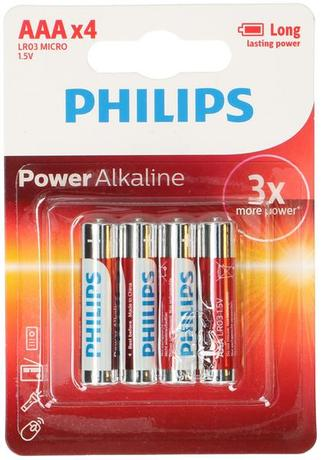 Philips BATERIE MIKROTUŽKOVÉ AAA PHILIPS POWERLIFE, 4KS