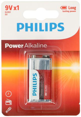 Baterie 9V Philips Powerlife, 1 ks