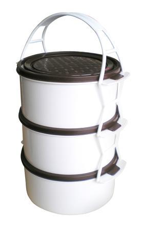 TORO jídlonosič plastový 3 patra, 25 x 14,2 cm