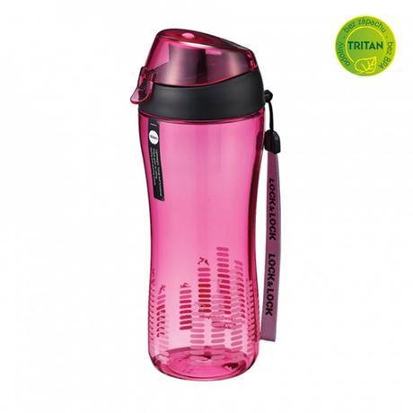 LOCK&LOCK Sportovní láhev na pití 550 ml - růžová