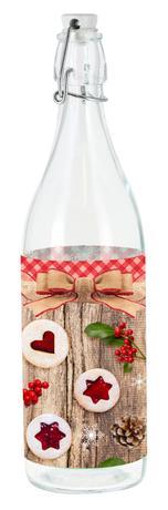 Skleněná láhev s patentním uzávěrem TORO 0,5l...