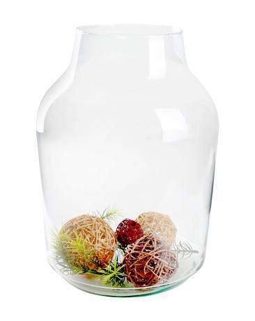 Skleněná váza BANGS 37x14,5cm