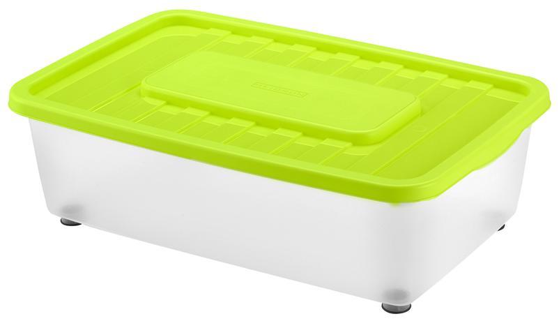 Plastový úložný box s víkem HEIDRUN Mania 25l