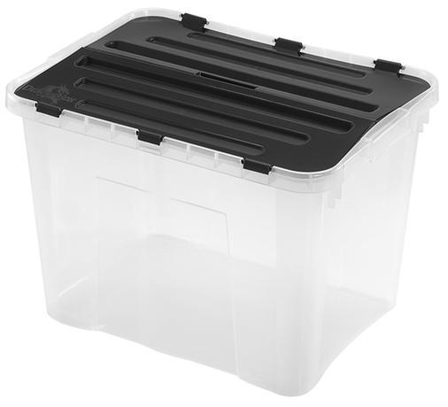 heidrun BOX ÚLOŽNÝ S VÍKEM, 42L, PLAST, 49X36X34 CM