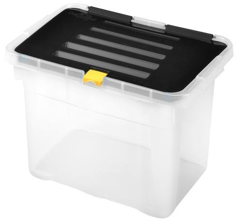 heidrun BOX ÚLOŽNÝ S VÍKEM 9L, PLAST, 30X23X20 CM