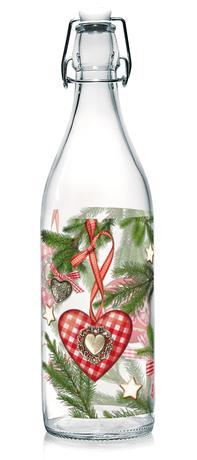 Skleněná láhev s patentním uzávěrem TORO 1l v...