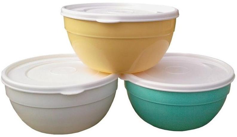 Plastová miska polévková s víčkem 0,5l
