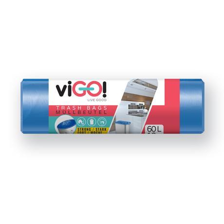 Pytle na odpad 60l VIGO 10ks modrý