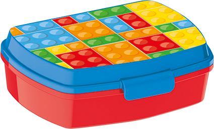 Plastový svačinový box 17,5x14,5x6,5cm kostky