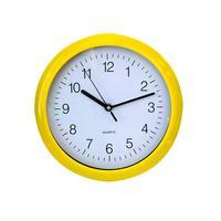 Nástěnné hodiny kulaté žluté, 25,1 x 2,1 cm