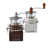 Mlýnek na kávu, porcelán/nerez, nápis Cafe