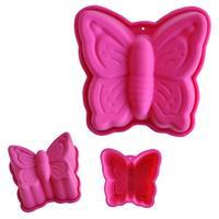 Forma silikon, motýl, růžová