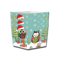 Košíčky na cukroví, papír, 4 ks, sovy vánoce