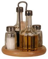 Menážka na sůl, pepř, ocet, olej, párátka, 8 x 3,8 cm/ 13,9 x 5,8 cm