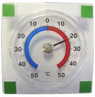 Venkovní teploměr samolepící, od - 50°C do + 50°C, 7,6 x 7,6 x 1,4 cm