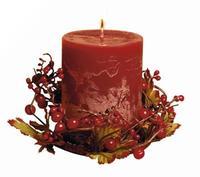 Svíčka dárková s dekorací s vůní čokolády 6,9 x 9 cm