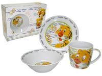 """Dětská jídelní sada 3 ks / """"Happy Tiger"""", dárkové balení"""