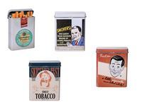"POUZDRO NA CIGARETY ""RETRO SMOKING"" 9X7CM, ASSORT"