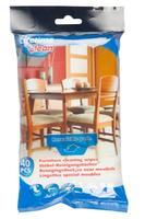 Ubrousky čistící na nábytek, 40 ks