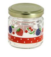 Sklenice zavařovací 0,1 l s víčkem, dekor ovoce