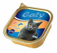 """Paštika pro kočky """"Caty"""" - losos+pstruh, 100g"""