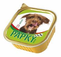 Papky paštika pro psy, drůbeží, 300 g