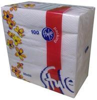 Ubrousky 1-vrstvé Style-packing, Bílé, 100 ks