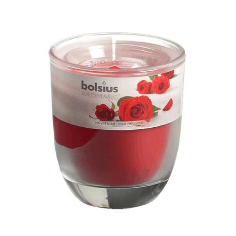 Bolsius | Svíčka ve skle Bolsius, 7 x 7,9 cm, růže