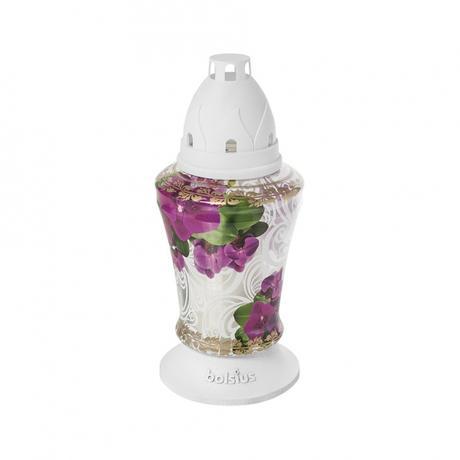 Bolsius | Hřbitovní lampa Bolsius, 36 hodin, orchidej