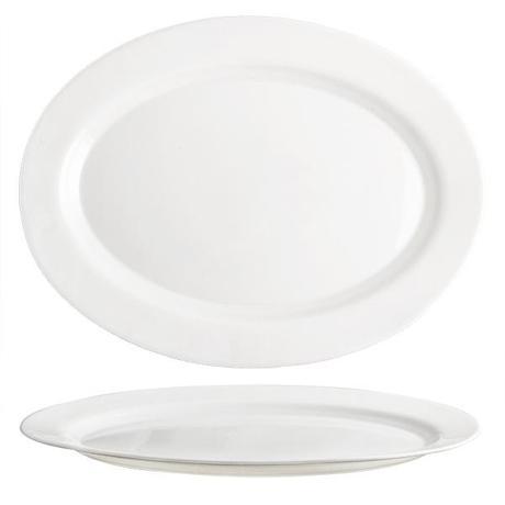 "TORO | Talíř oválný ""Elba"", opálové sklo, 36 cm"