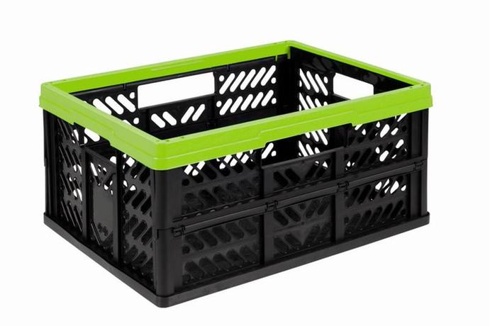 Keeper | Skládací přepravka, 32 l, zelenočerná